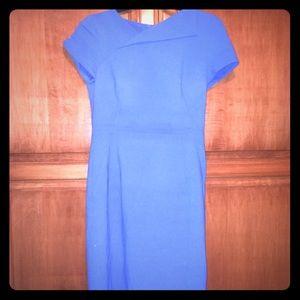L.K. Bennett Jo Fitted Dress, True blue